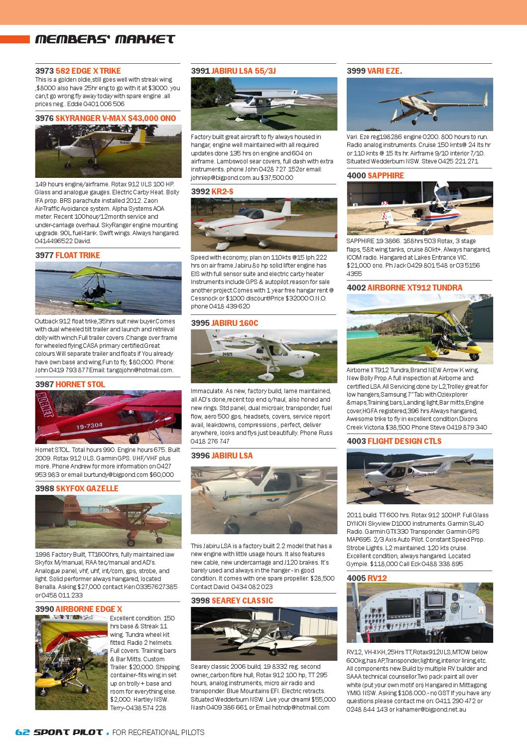 Sport pilot 37 aug 2014 by Recreational Aviation Australia