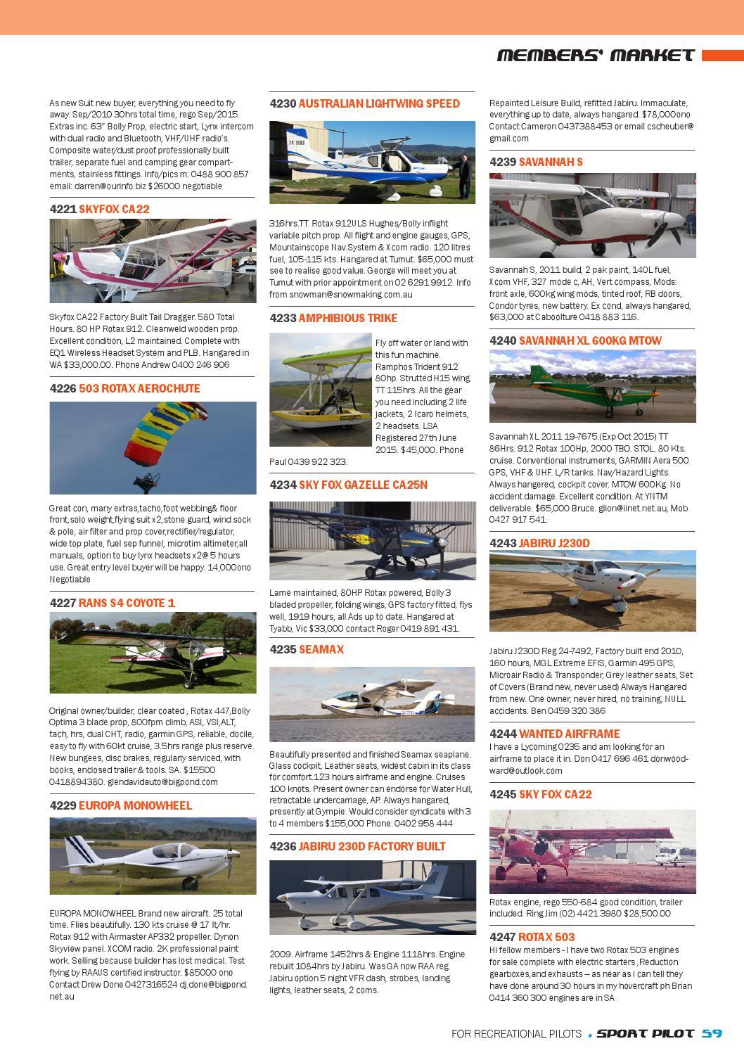Sport pilot 41 dec 2014 by Recreational Aviation Australia