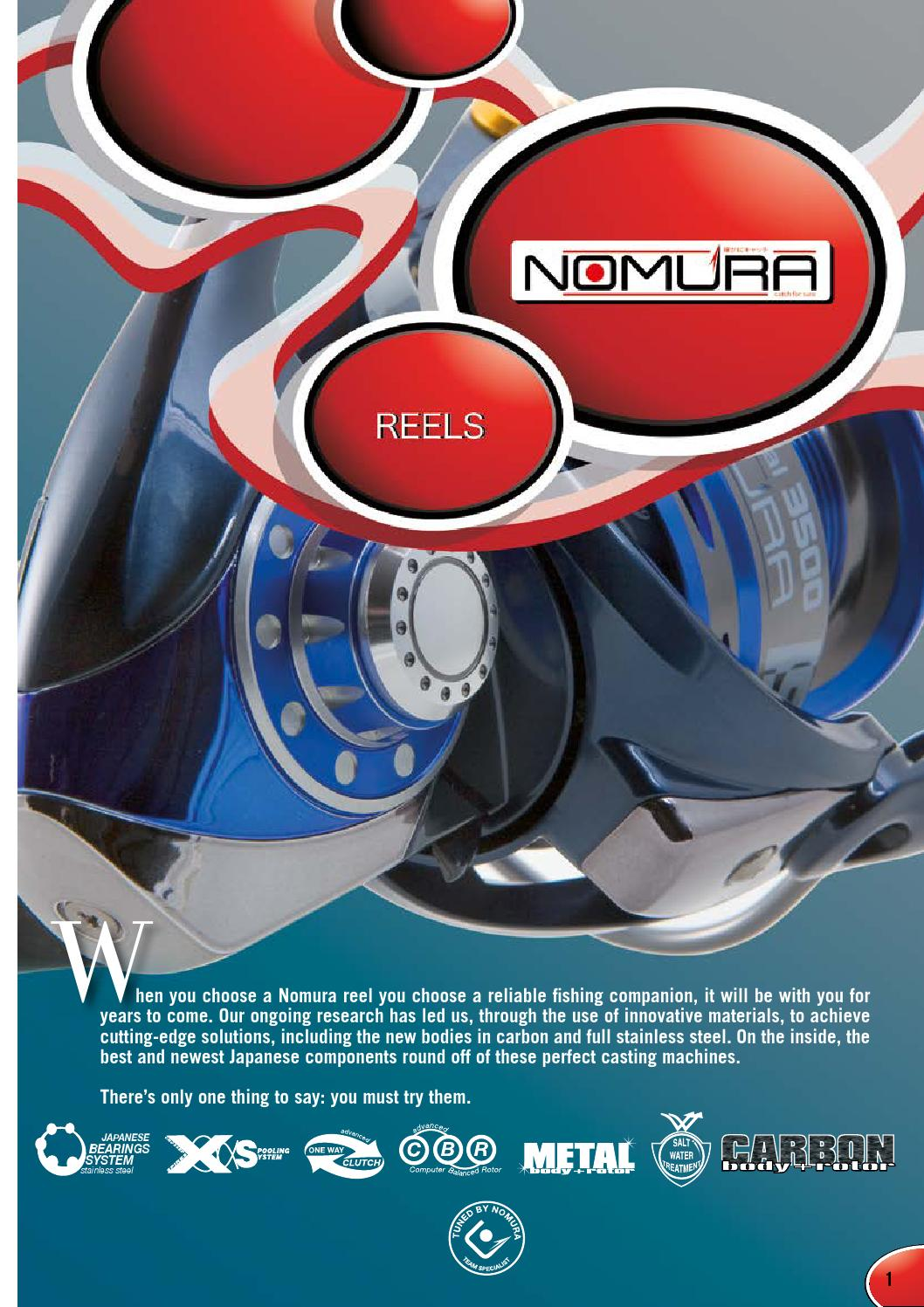 Nomura Catalogue 2016 By Goldfish Issuu Lure Minnow 85 Cm 68gr Crank Bait Treble Hook Crankbait
