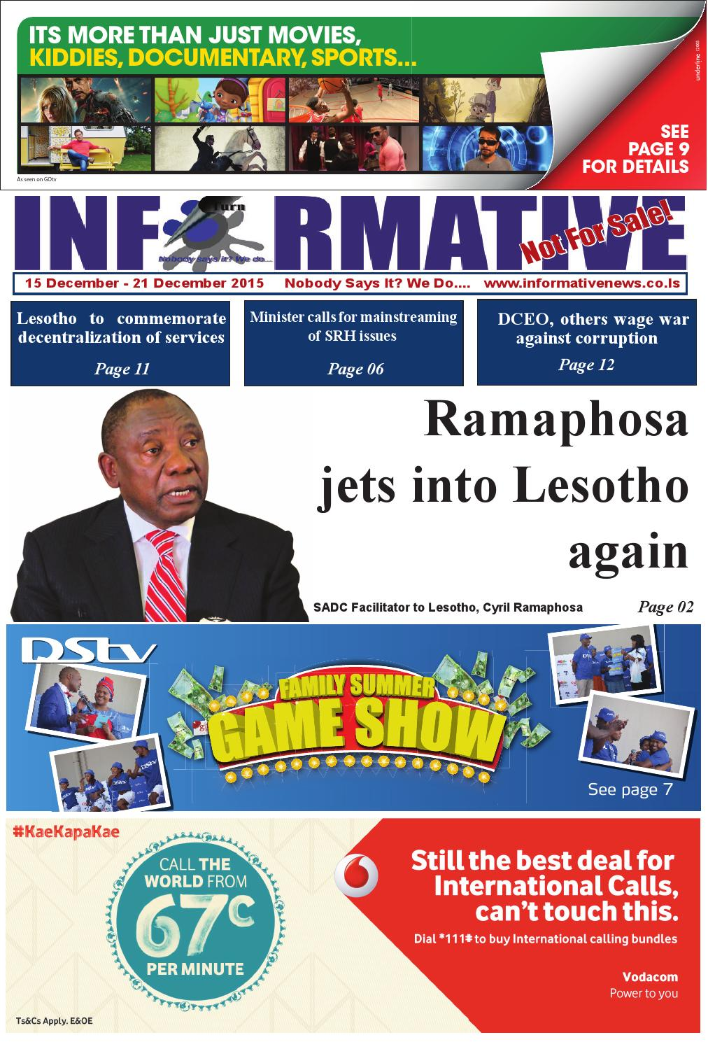 Informative News 15 to 21 December 2015 by Informative - issuu