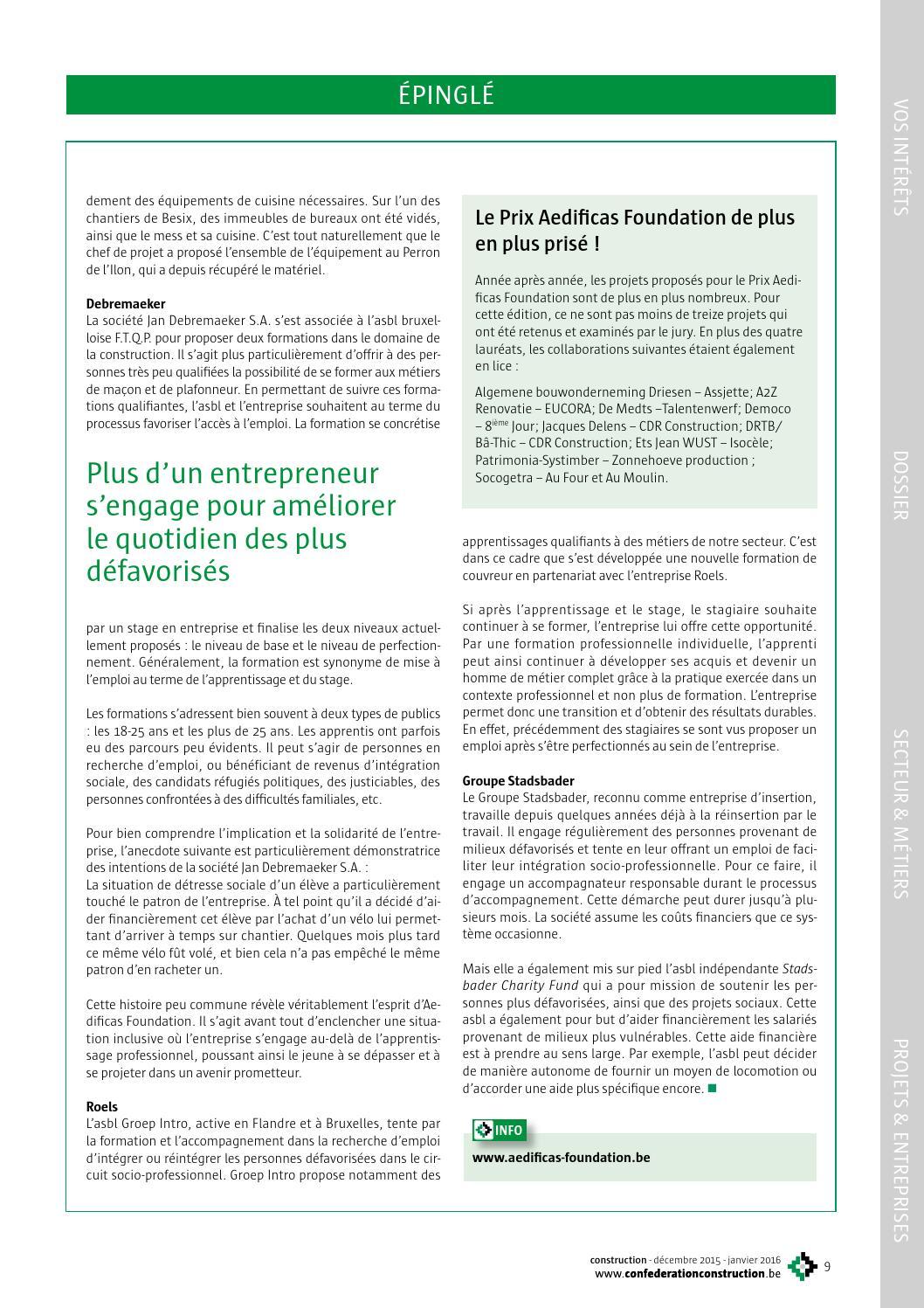 e9ed255847cdbb Construction décembre 2015-janvier 2016 by Confédération Construction -  issuu