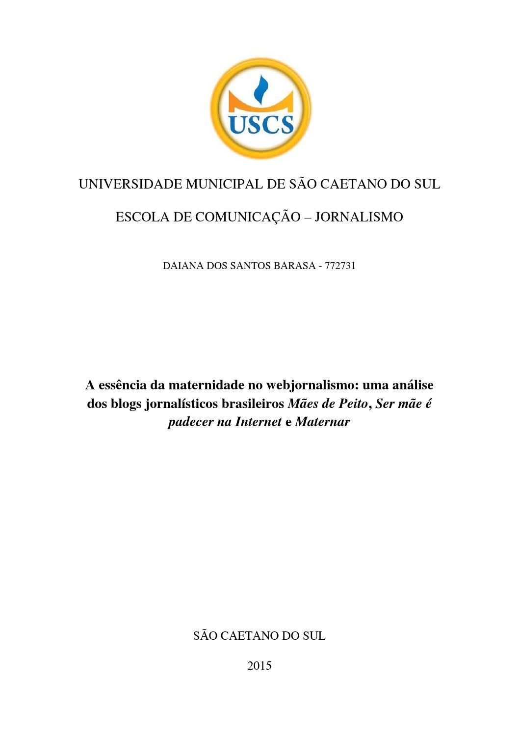 446800f04a A essência da maternidade no webjornalismo by Daiana Barasa - issuu