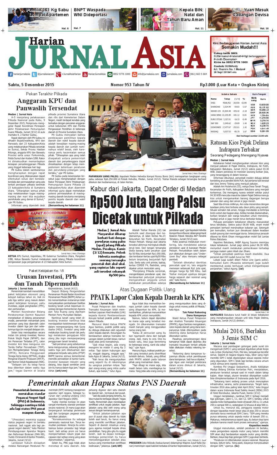 Harian Jurnal Asia Edisi Sabtu 05 Desember 2015 By Kopibubuk Robusta Toko Rezeki Akumandiri Malang Medan Issuu