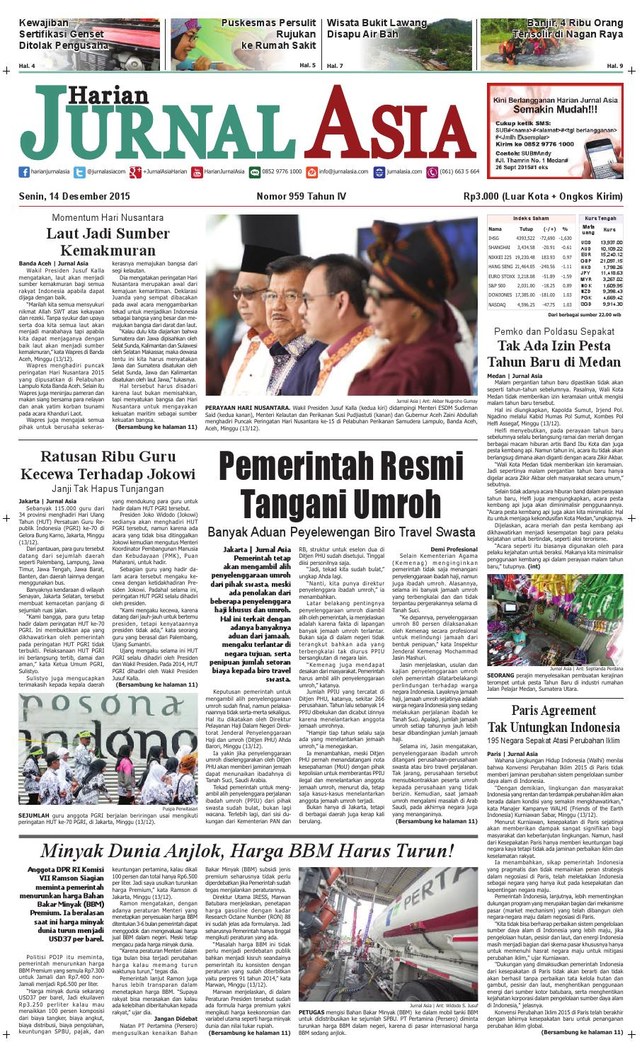Harian Jurnal Asia Edisi Senin 14 Desember 2015 By Produk Ukm Bumn Chesse Pie Khas Balikpapan Medan Issuu
