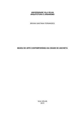 tcc arqurbuvv museu de arte contemporânea de anchieta by bruna