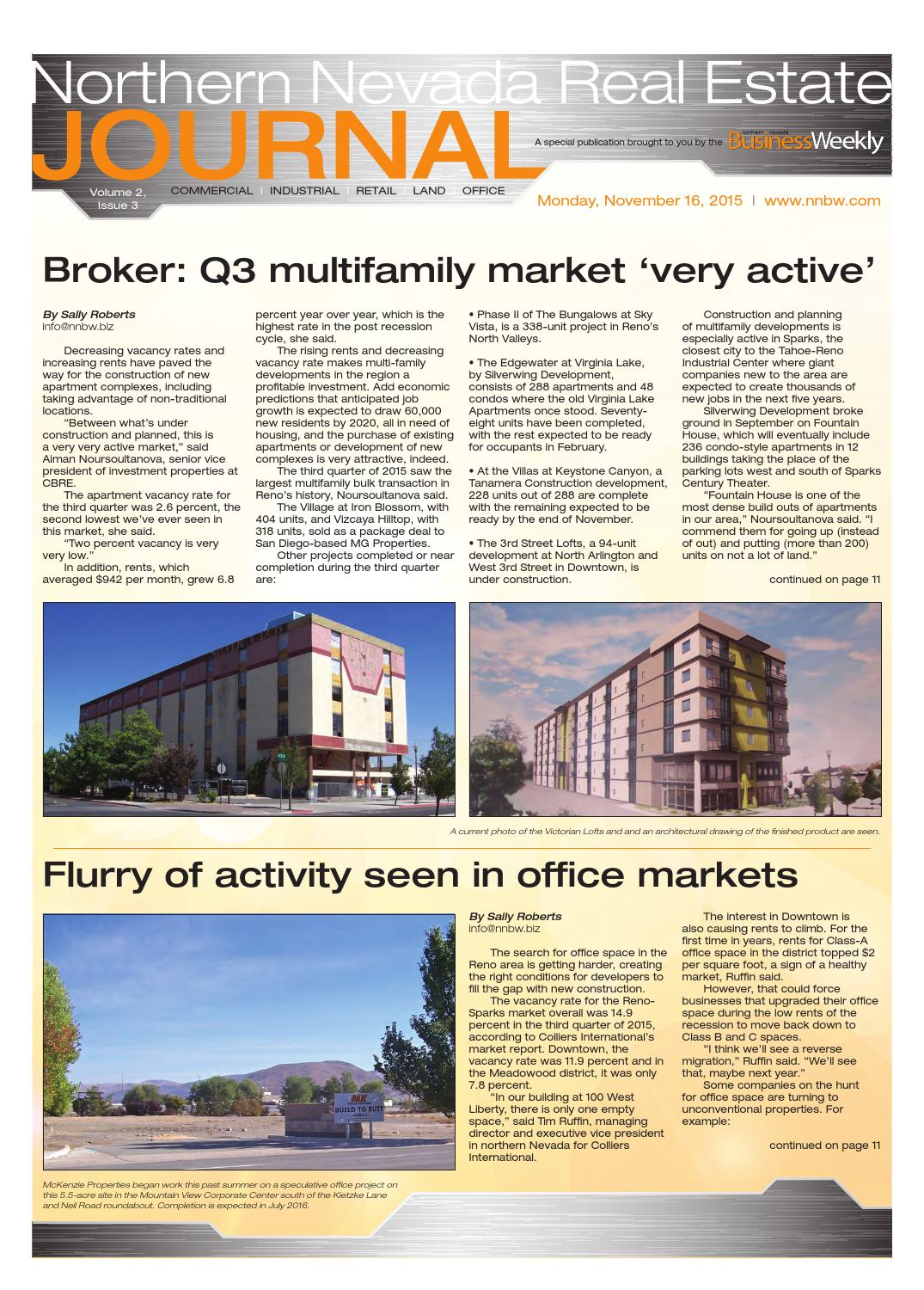 Northern Nevada Real Estate Journal Vol  2 Issue 3 by SNMG