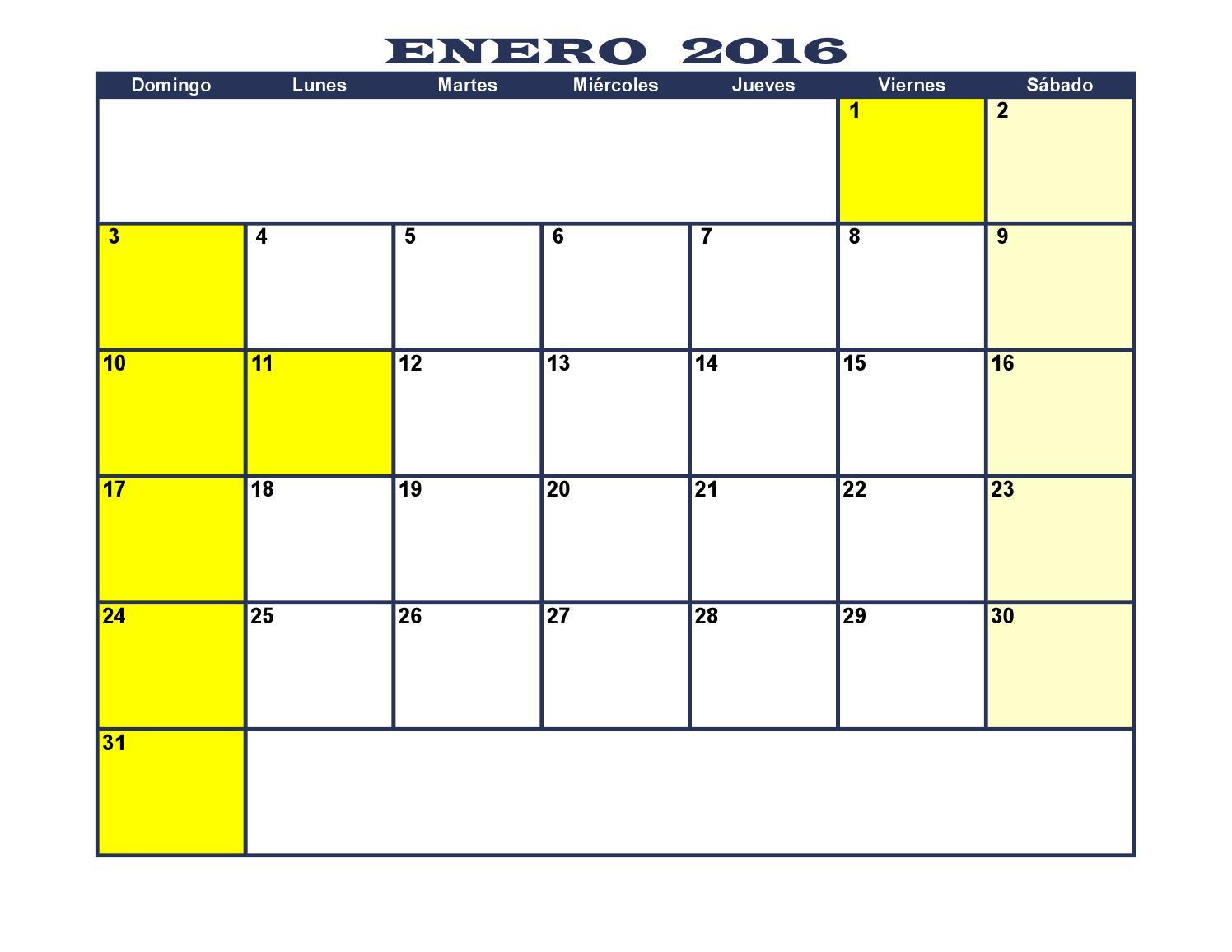 Calendario Colombiano.Calendario Colombia 2016 By Luis Guillermo Restrepo Rivas