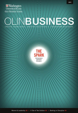 Olin Business Magazine 2015 By Olin Business School Issuu
