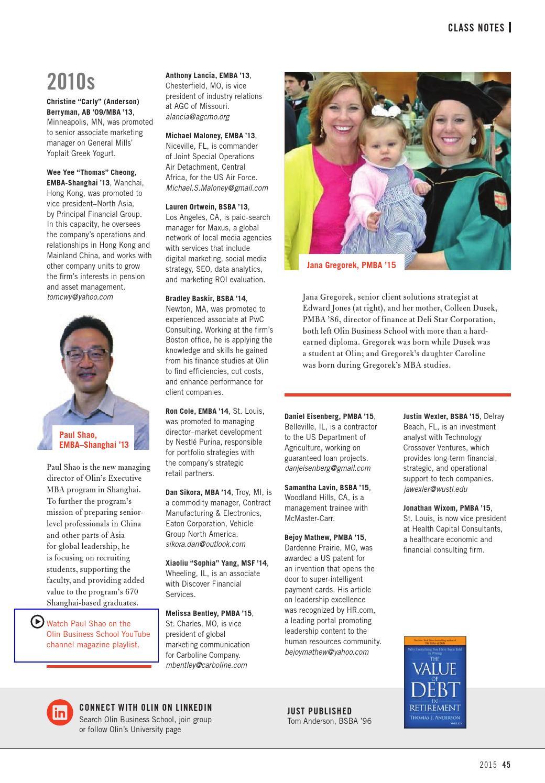 Olin Business Magazine 2015 by Olin Business School - issuu