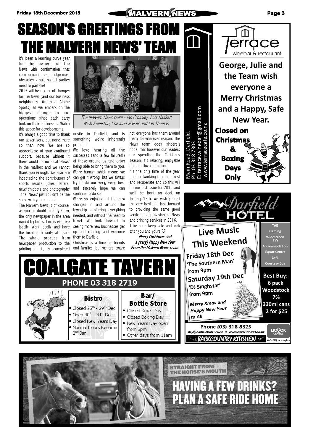 Issue 725 Friday 18th December 2015 by Malvern News - issuu
