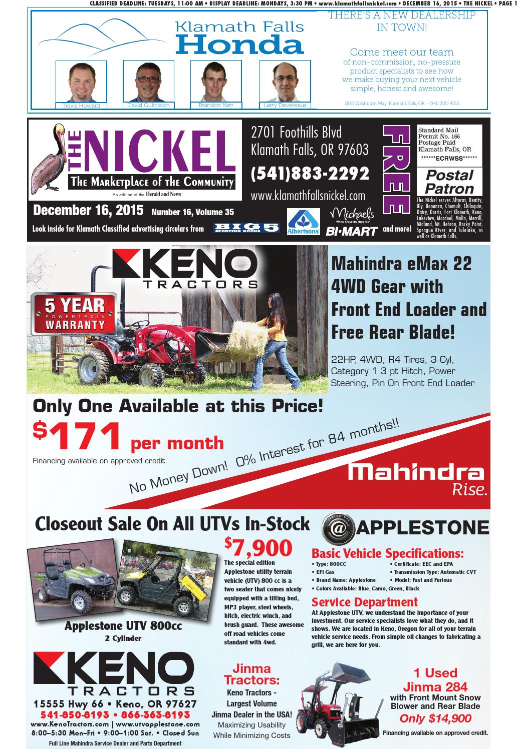 Nickel 12-16-15 by Herald and News - issuu