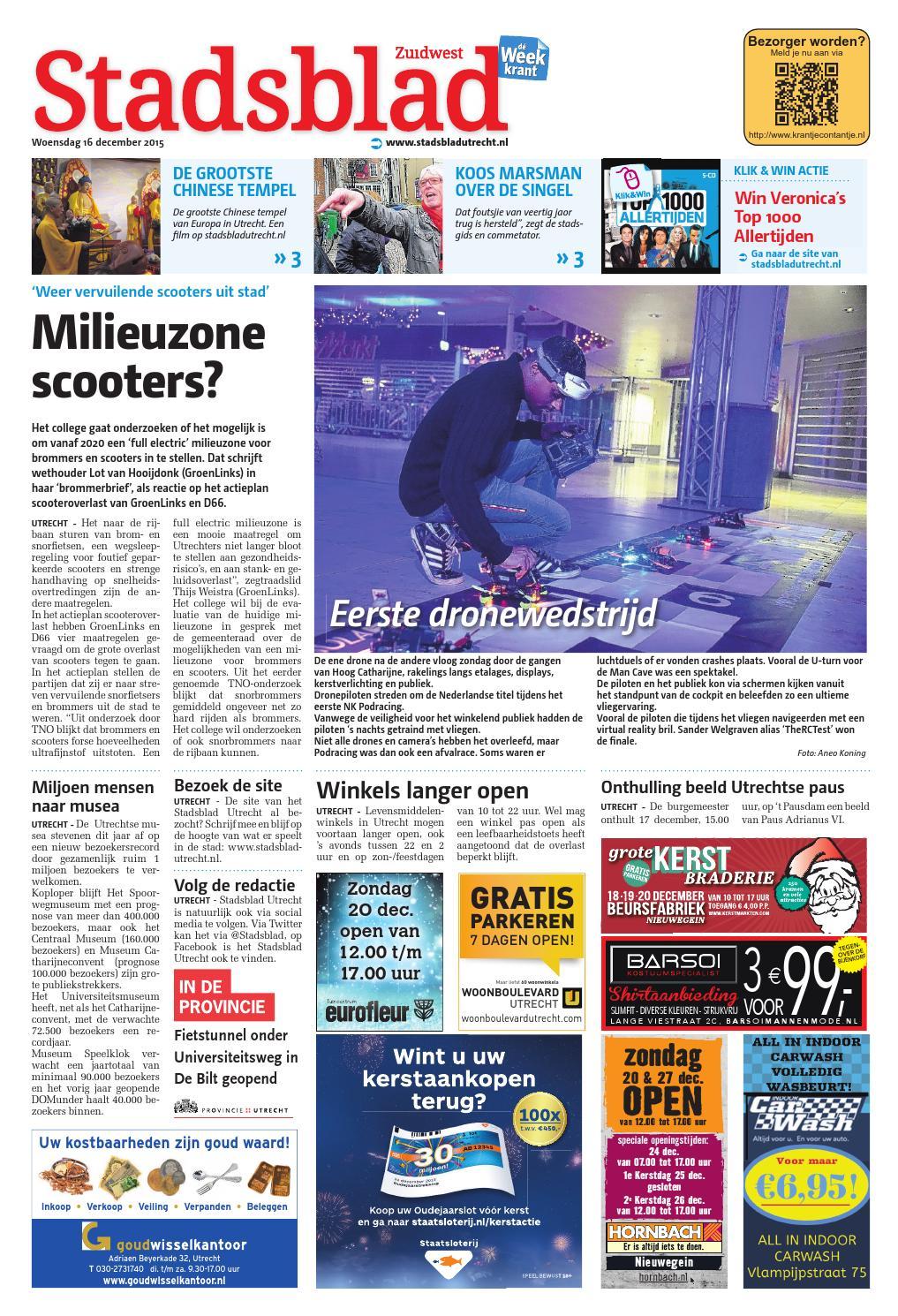 Stadsblad Utrecht week51 by Wegener - issuu 34cd4bae91