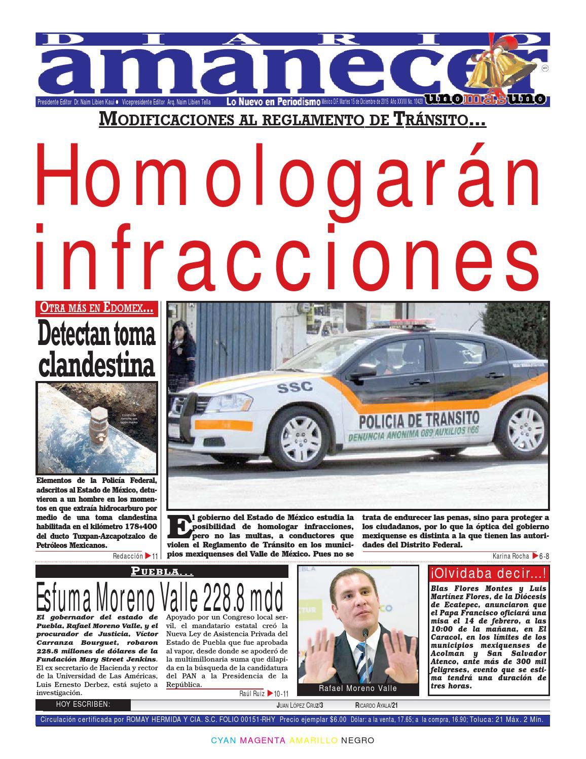 Diciembre 15 de 2015 by Diario Amanecer - issuu