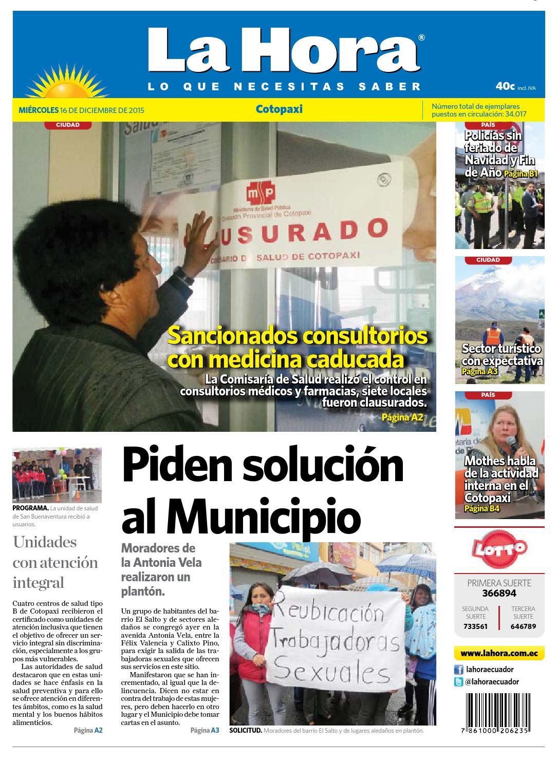 Cotopaxi 16 diciembre 2015 by Diario La Hora Ecuador - issuu