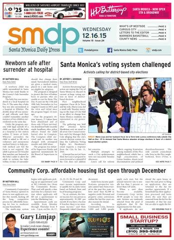 Santa Monica Daily Press, December 16, 2015 by Santa Monica Daily