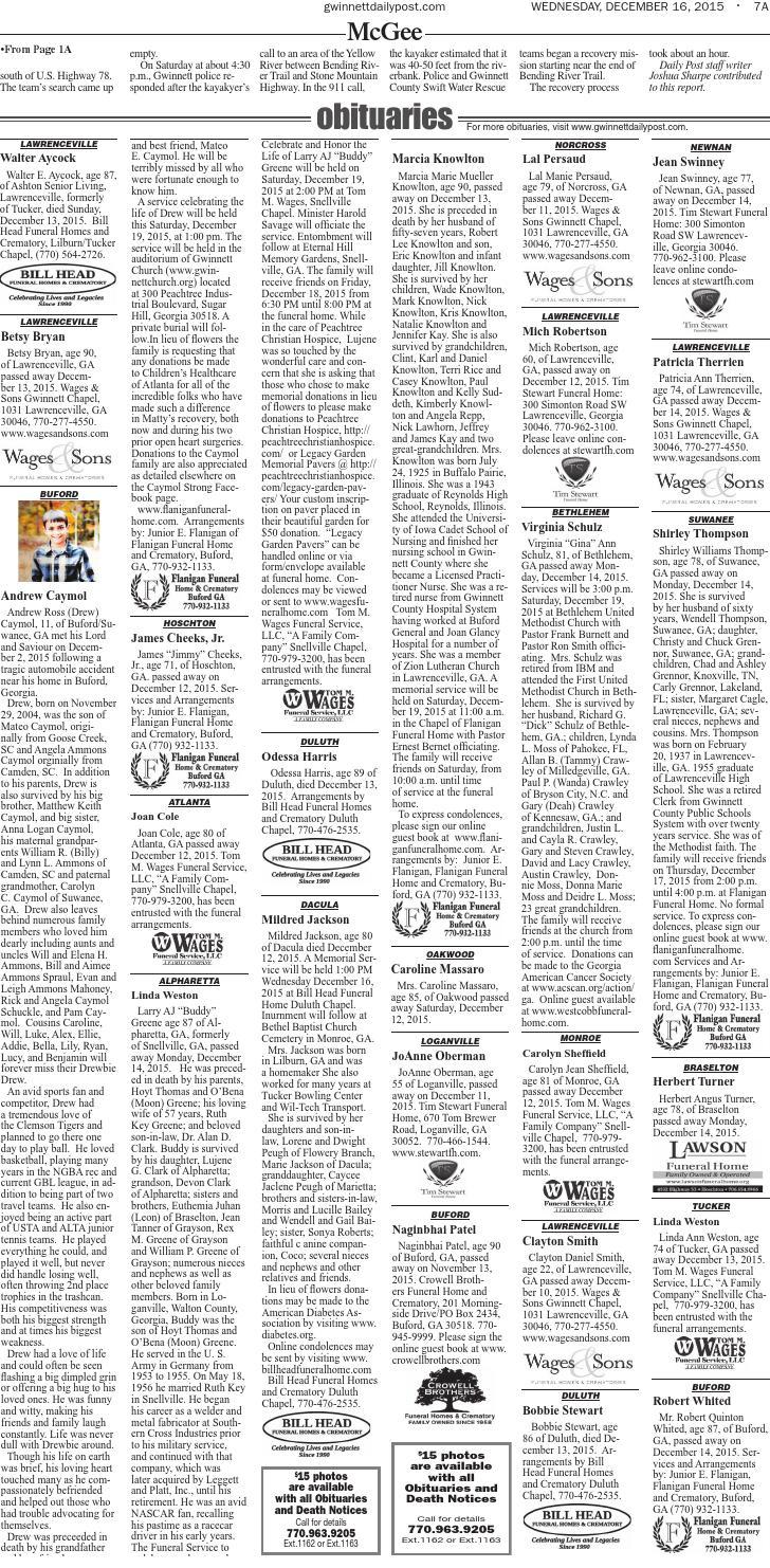 Gwinnett Daily Post — Dec  15, 2015 by Gwinnett Daily Post
