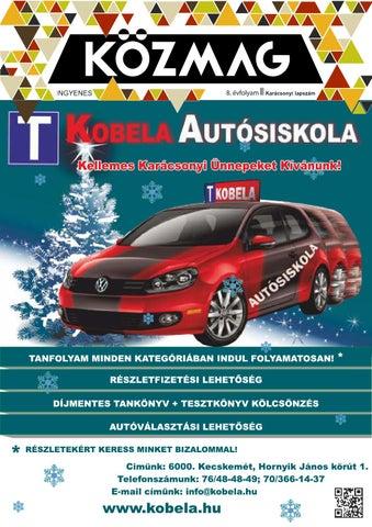 """Cover of """"KÖZMAG Középiskolások Magazinja - Karácsonyi Lapszám - 2015-12 – Kecskemét"""""""