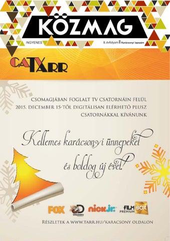 """Cover of """"KÖZMAG Középiskolások Magazinja - Karácsonyi Lapszám - 2015-12 – Tolna"""""""