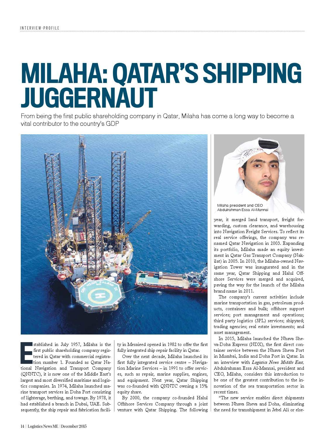 Logistics News ME - December 2015 by BNC Publishing - issuu