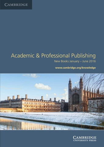 Academic professional publishing catalogue jan june 2016 by make use of the wide range of services which cambridge offers fandeluxe
