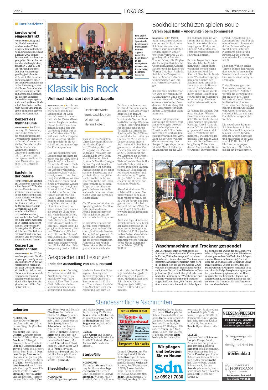 Len Nordhorn grafschafter wochenblatt 16 12 2015 by sonntagszeitung issuu