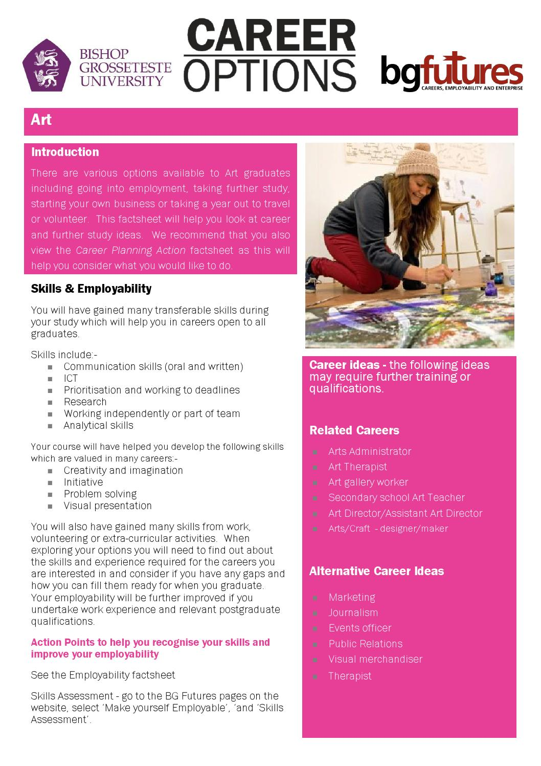 Options With Art By Bg Futures Careers Employability And