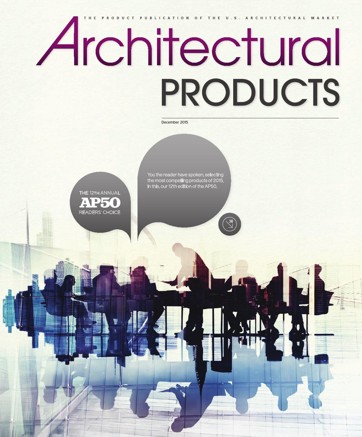 Architectural Products - December 2015 by Construction