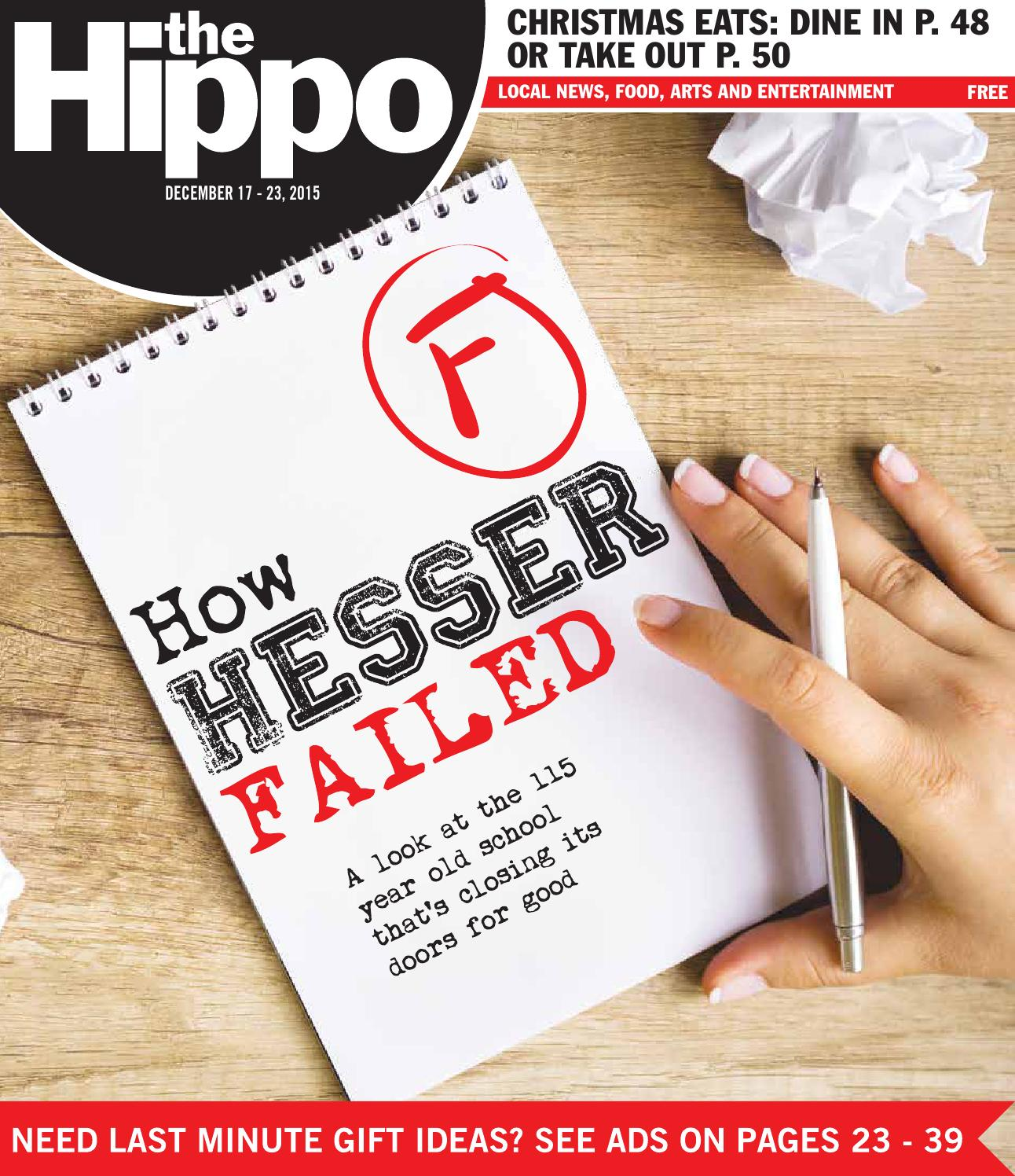 Hippo 12 17 15 by The Hippo issuu