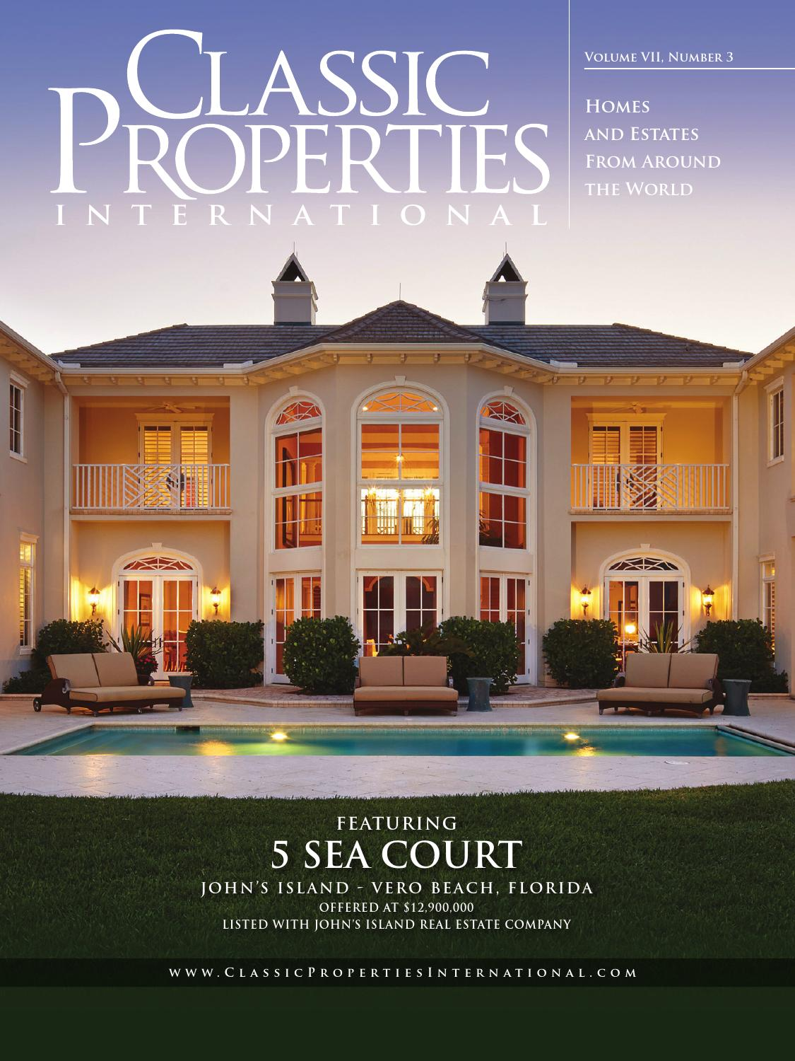 Classic properties international vol vii no 3 john 39 s for Classic homes real estate