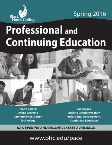 Professional and continuing education spring 2016 by black hawk page 1 fandeluxe Image collections