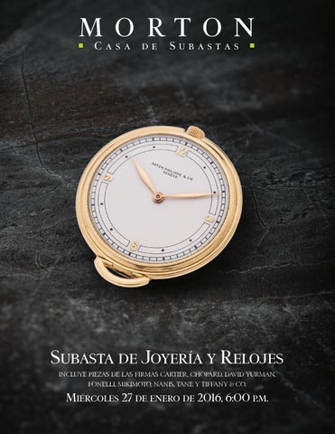3e1e55fa4c80 Subasta de JoyerĂa y Relojes incluye piezas de las firmas cartier