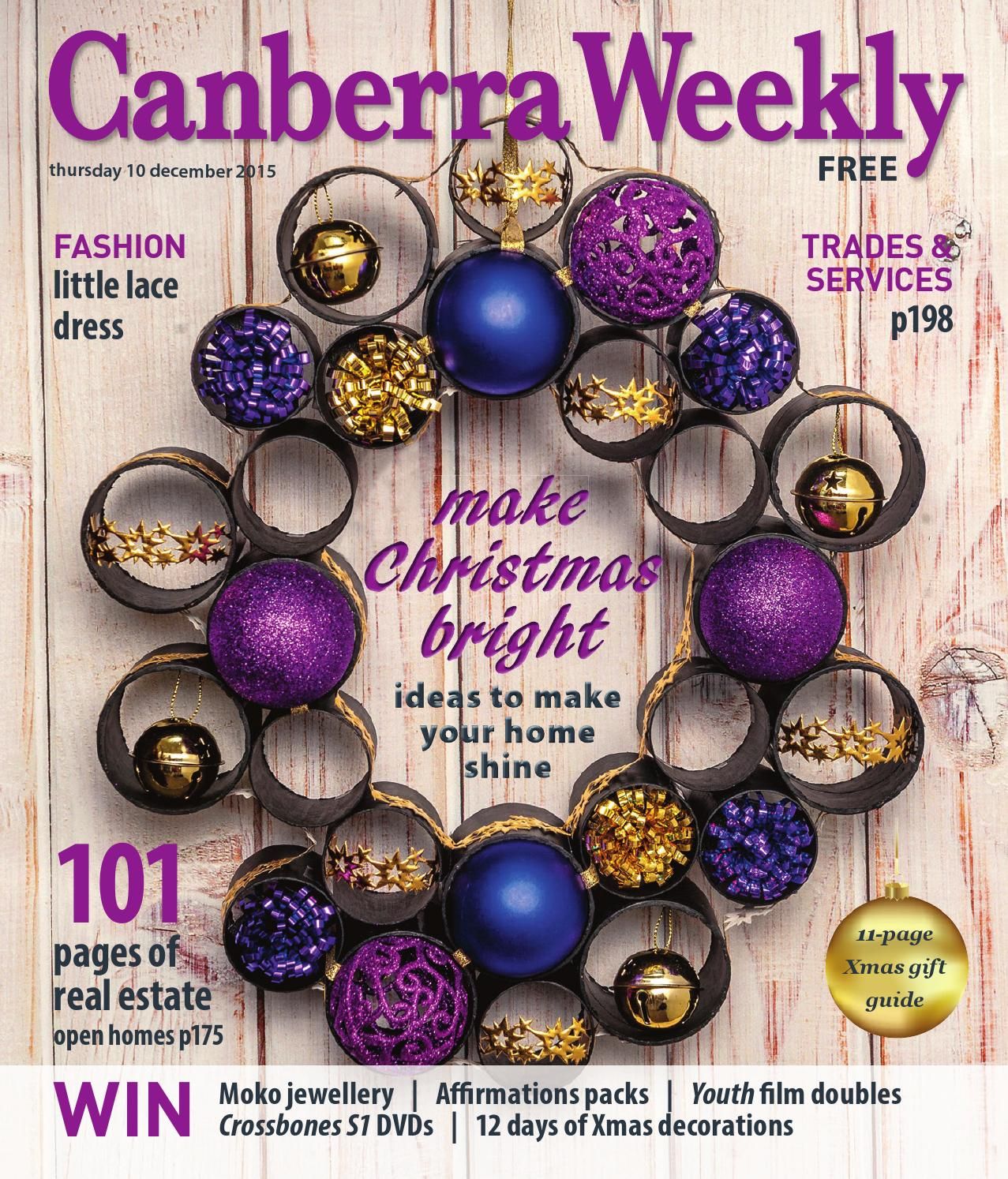 10 December 2015 by Canberra Weekly Magazine - issuu 490858e1873d