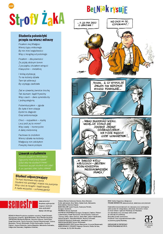Magazyn Semestr Wydanie Zima 2015 By Magazyn Semestr Issuu