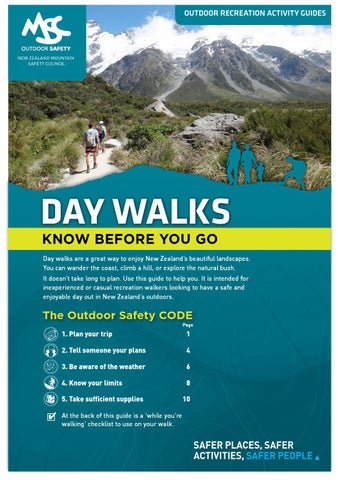 Day walks activity guide by New Zealand Mountain Safety Council - issuu
