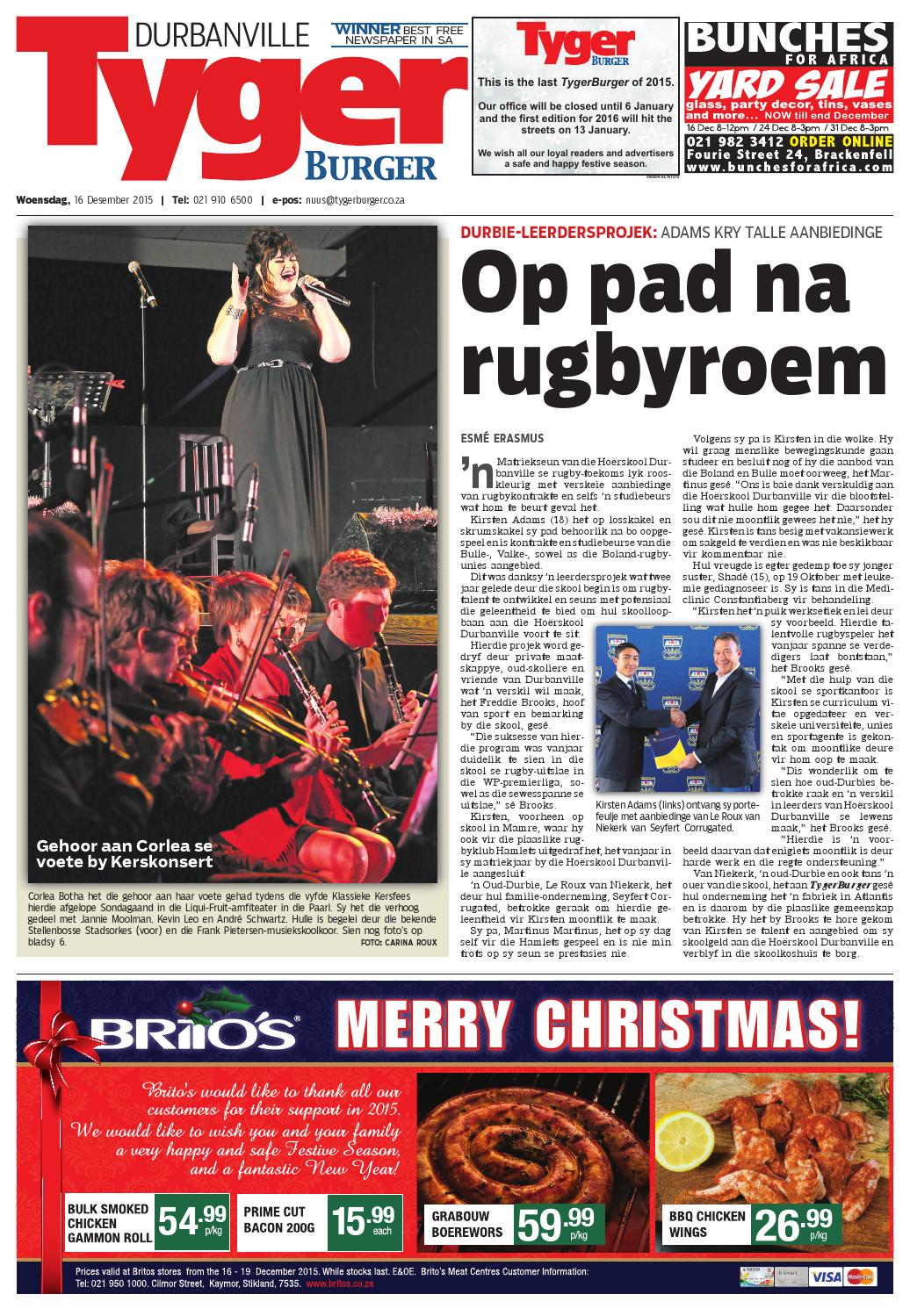 Tygerburger durbanville 20151216 by tygerburger newspaper issuu ccuart Images