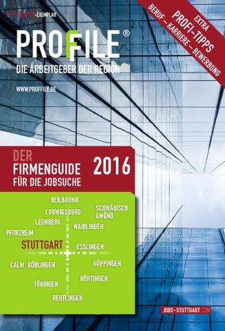PROFFILE Stuttgart 2016 by SMK Medien GmbH & Co. KG | PROFFILE - issuu