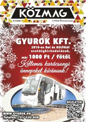 """Cover of """"KÖZMAG Középiskolások Magazinja - Karácsonyi Lapszám - 2015-12"""""""
