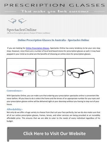 9f99706265 Online Prescription Glasses In Australia - Spectacles Online by ...