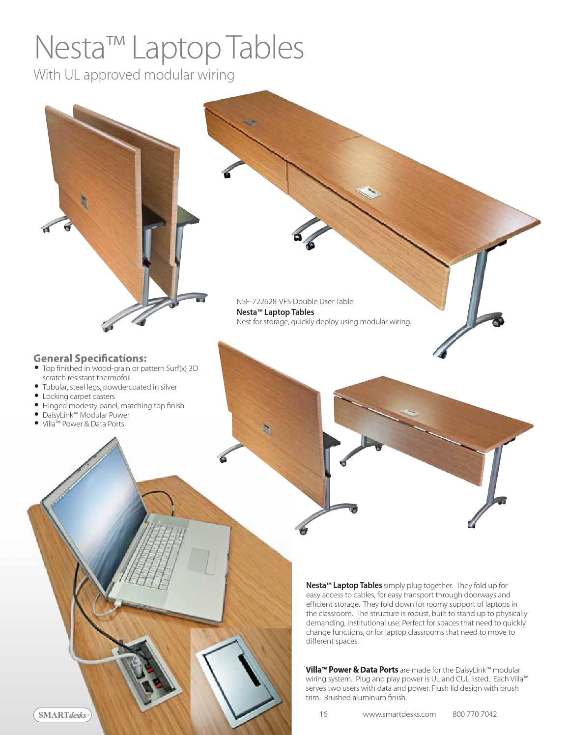 Nesta LaptopTables With UL approved modular wiring PDF by ...