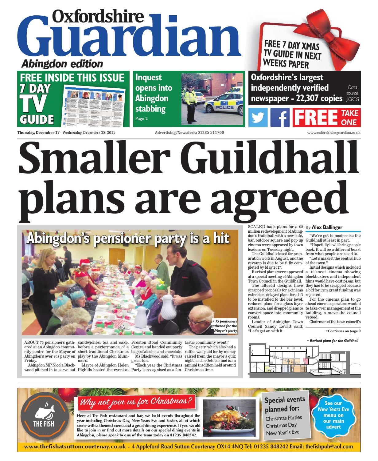 17 december 2015 Oxfordshire Guardain Abingdon by Taylor Newspapers ...