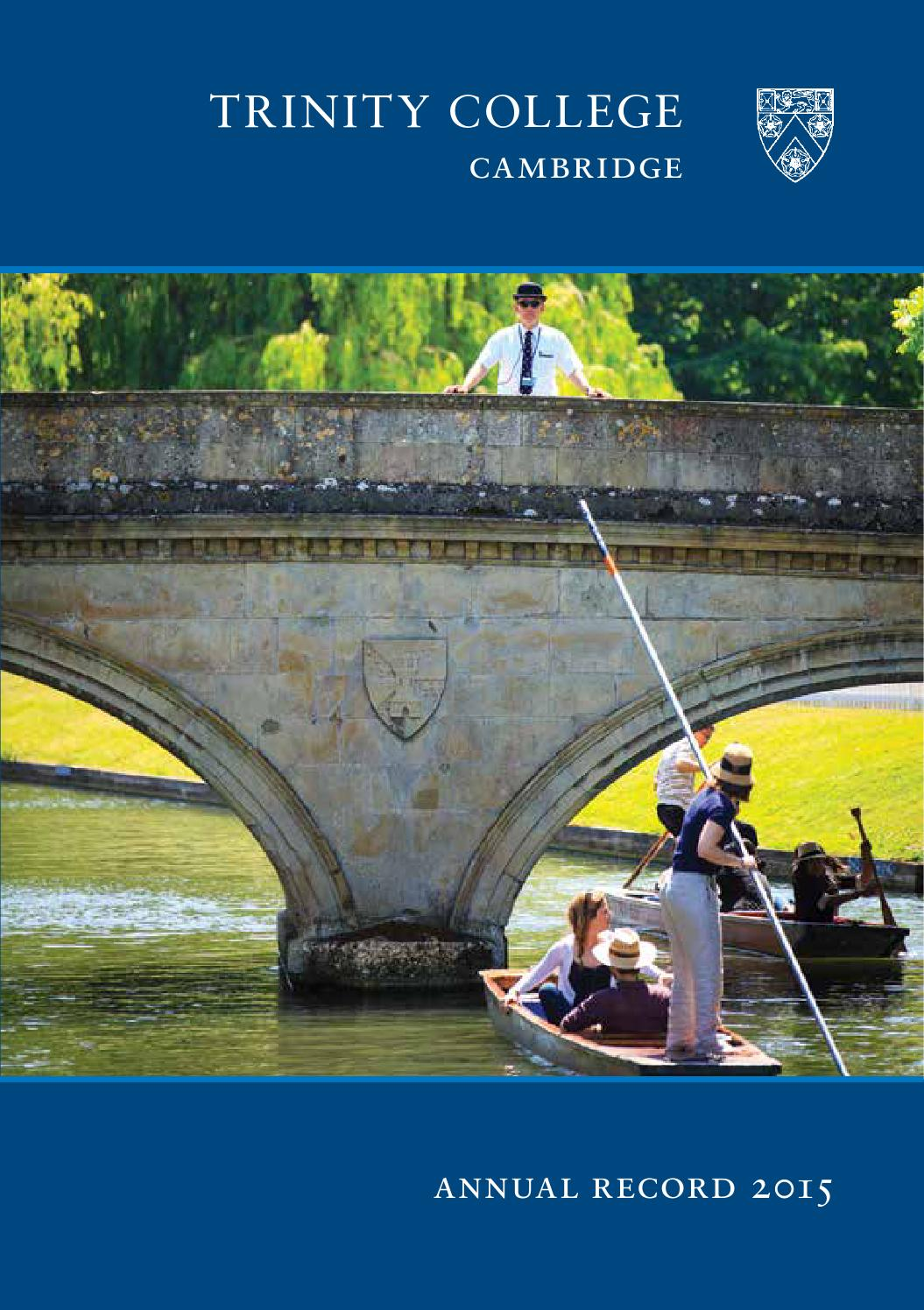 Annual Record - 2015 by Trinity College Cambridge - issuu