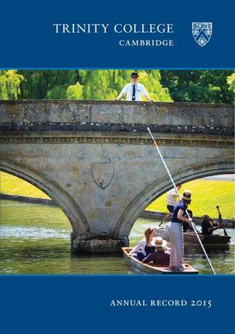 Annual Record - 2015 by Trinity College Cambridge - issuu 04b51ff2027e