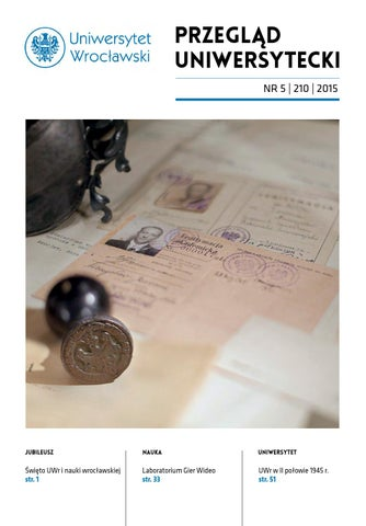 43595aff089efa Przegląd Uniwersytecki (Wrocław) R.21 Nr 3 (208) 2015 by Uniwersytet ...