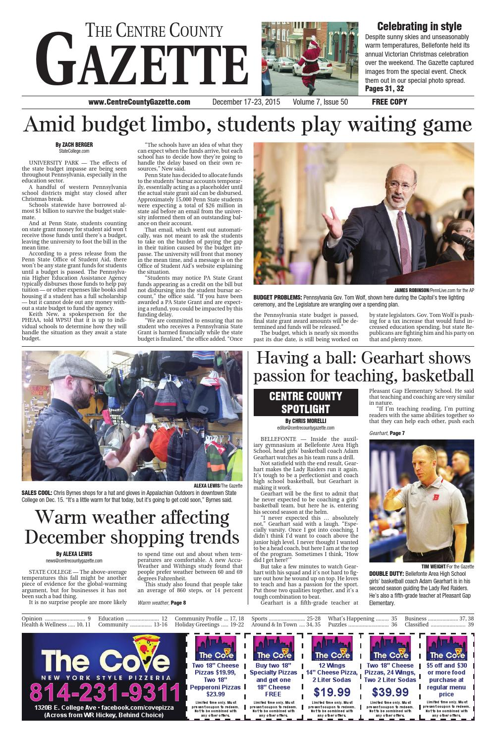 12 17 15 centre county gazette by Indiana Printing & Publishing - issuu
