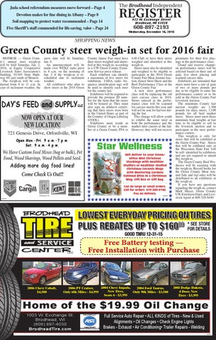 Is 12 16 15 By Southern Lakes Newspapers Rock Valley Publishing