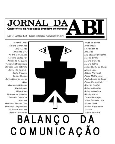 Jornal da ABI - Balanço da Comunicação by Motta Lima - issuu 44ef4ae1c0904