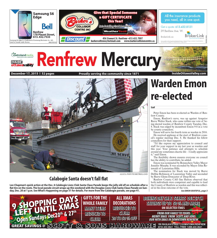 Renfrew121715 by metroland east renfrew mercury issuu fandeluxe Gallery