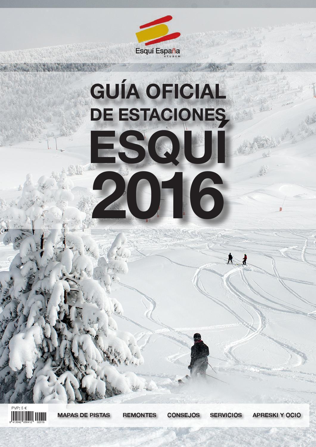 Mapa Estaciones Esqui España.Guia Oficial De Estaciones De Esqui De Espana 2016 By Media
