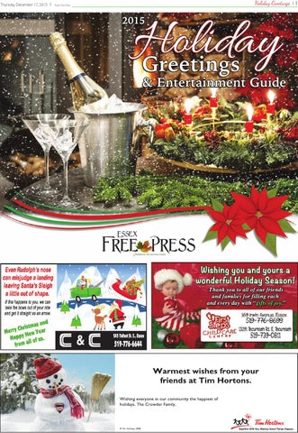 2015 essex free press holiday greetings by essex free press issuu thursday december 17 2015 m4hsunfo