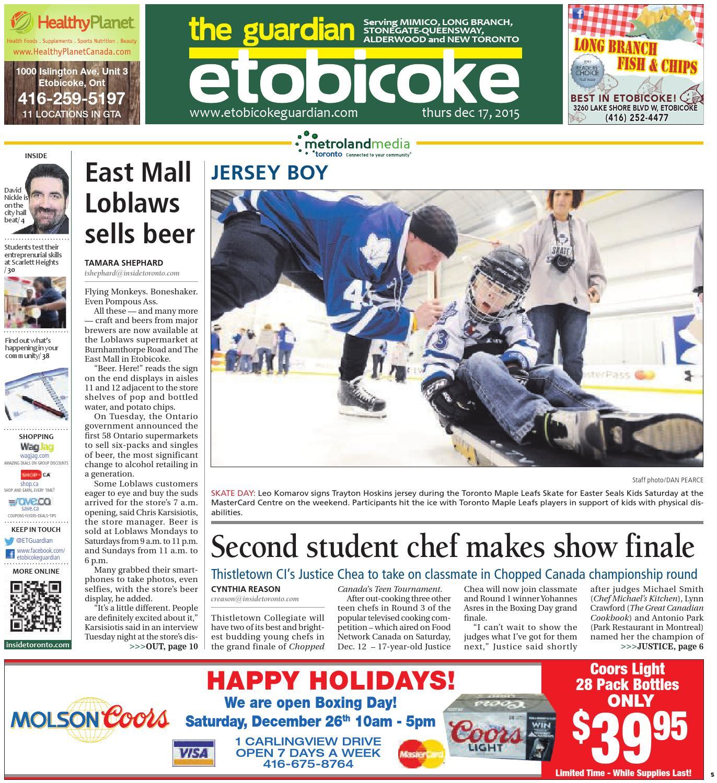 66cc4d63 The Etobicoke Guardian South, December 17, 2015 by The Etobicoke Guardian -  issuu